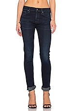Agnes Mid Rise Slim Straight in Midnight Blue