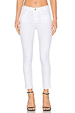 Rocket High Rise Crop Skinny in Sculpt White