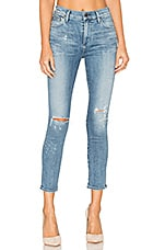 Citizens of Humanity Rocket High Rise Crop Skinny in Distressed Fizzle