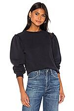 Citizens of Humanity Edie Puff Sleeve Sweatshirt in Navy