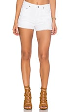 Chloe Short in Distressed White