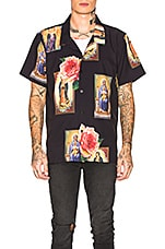 Civil Regime Holy Floral Shirt in Black