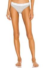 Calvin Klein Underwear CK One Cotton Thong in Grey Heather