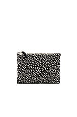 Flat Supreme Clutch in Black Ladybug Hoc