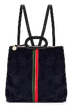 Clare V. Marcelle Backpack in Navy Suede