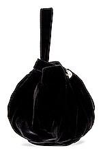 Clare V. Chou Chou Bag in Black Silk Velvet