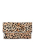 Foldover Clutch in Leopard