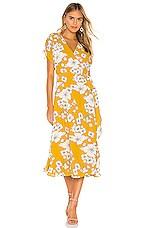Cleobella Myra Wrap Dress in Yellow