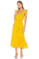 Cleobella Harlow Ankle Dress in Lemon