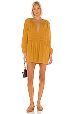 Cleobella Maya Mini Dress in Mustard