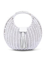Cleobella Olivia Wicker Bag in White