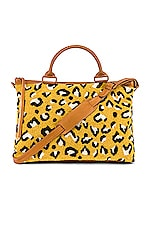 Cleobella Soho Weekend Bag in Yellow Leopard