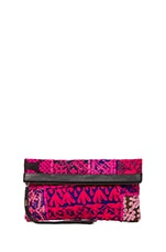 Harlow Clutch in Black & Fuschia