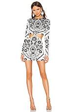 Caroline Constas Lila Knot Dress in White Multi