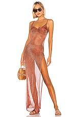 Caroline Constas Slip Maxi Dress in Rust