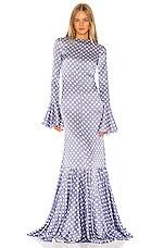 Caroline Constas Allonia Gown in Blue