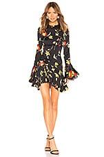 Caroline Constas Monique Mini Dress in Black Multi