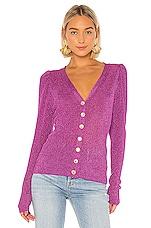 Caroline Constas Long Sleeve Cardigan in Purple