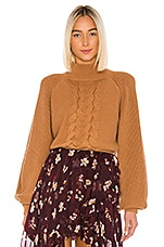 Caroline Constas Kyla Sweater in Camel