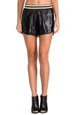 Metallic Shorts in Black