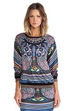 Stained Glass Fleece Sweatshirt in Multi