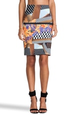 Lautner Land Neoprene Skirt in Multi