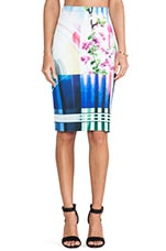 Hollywood Bowl Neoprene Skirt in Multi