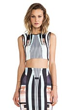 Clover Canyon Desert Home Neoprene Crop Top in Multi