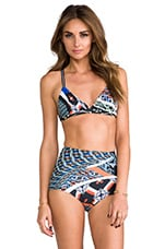 Cuban Tile Bathing Suit Top in Multi