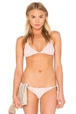 Donovan Triangle Bikini Top in Blush