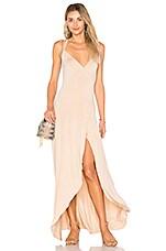 Clayton Dita Wrap Maxi Dress in Bare