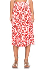 Cameron Skirt in Vermilion Tribal