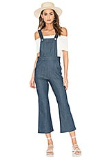 Clayton Lina Cropped Overall in Marina Denim