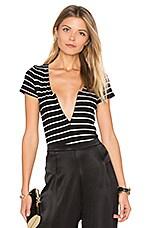 Zip Bodysuit in Chelsea Stripe