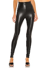 Commando Perfect Control Faux Leather Legging in Black