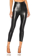Commando Perfect Control Faux Leather Capri in Black