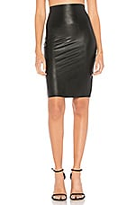 Commando Perfect Pencil Faux Leather Skirt in Black