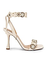 Coach 1941 Brodie Link Tea Rose Heel Sandal in Chalk Multi