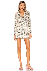 Camila Coelho Gemma Blazer Dress in Tan Leopard