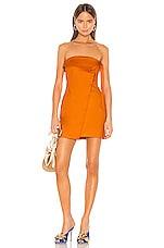 Camila Coelho Ila Strapless Mini Dress in Desert Orange
