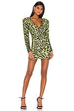 Camila Coelho Cardi Embellished Dress in Lime Green