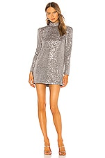 Camila Coelho Soraya Mini Dress in Silver