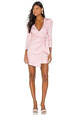 Camila Coelho Alejo Mini Dress in Pink Lemonade