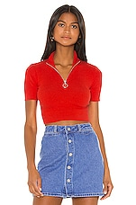 Camila Coelho Bea Sweater in Red Orange