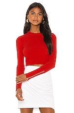 Camila Coelho Monroe Sweater in Red Orange