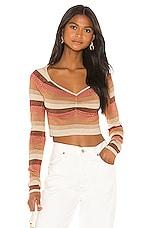 Camila Coelho Ginger Sweater in Sandstorm Stripe