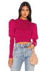 Camila Coelho Blaire Sweater in Magenta
