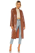 Camila Coelho Esma Trench Coat in Cognac