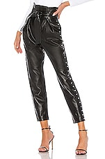 Camila Coelho Cady Leather Pant in Black