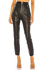 Camila Coelho Lindo Leather Leggings in Black